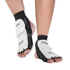 Taekwondofootpad Pair Taekwondo Foot Protector Mma Karatefoot Pads Sparring Gear (Size:L) - intl