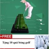 Bán Mua Thảm Tập Golf Trong Nha Agu Loại 3M Chiều Dai Co Rảnh Trả Bong Về Phổ Biến Nhất Tặng 10 Quả Bong Đanh Golf Tieu Chuẩn San Golf