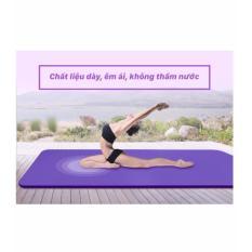 Hình ảnh Thảm Tập Yoga Đa Năng Cao Cấp loại 10mm ( tím)Tặng Kèm Túi Loại Mới _ kích thước dài 1m75 x 61cm x10cm