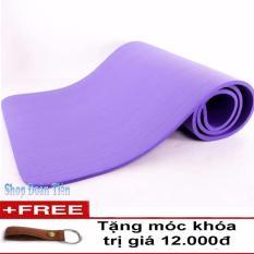 Giá Bán Thảm Tập Yoga Sieu Bền Loại 1 Day 10Mm Tpe Tim Free Moc Khoa Da Rẻ Nhất