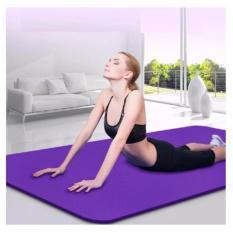 Hình ảnh Thảm tập Yoga siêu bền loại dày 10mm TPE (Tím) có túi đựng