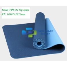 Bán Thảm Tập Yoga Tpe 2 Lớp 6Mm Cao Cấp Xanh Navy Tps Trực Tuyến Hà Nội
