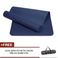 Ôn Tập Thảm Tập Yoga Zera Tpe 1 Lớp 8Mm Xanh Coban