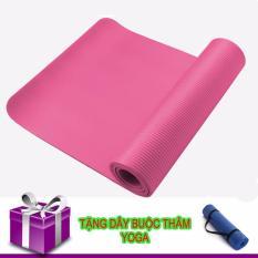 Bán Thảm Tập Yoga Tpe Cao Cấp Day 10Mm Hồng Day Buộc Thảm Trực Tuyến Trong Hà Nội