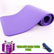 Ôn Tập Tốt Nhất Thảm Tập Yoga Tpe Cao Cấp Day 10Mm Tim Day Buộc Thảm