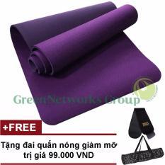 Bán Thảm tập Yoga TPE cao cấp Zera GnG 6mm 2 lớp có túi đựng + Tặng đai quấn giảm mỡ
