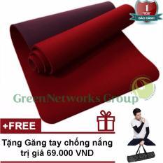 Bán Thảm tập Yoga TPE cao cấp Zera GnG 6mm 2 lớp có túi đựng + Tặng găng tay chống nắng