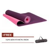 Bán Mua Trực Tuyến Thảm Tập Yoga Zeno 2 Lớp Tpe Cao Cấp Tim Tặng Kem Tui