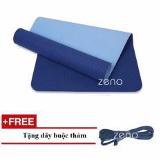 Bán Thảm Tập Yoga Zeno Tpe 2 Lớp Tặng Day Buộc Thảm Xanh Navy Zeno Trực Tuyến
