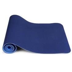 Hình ảnh Thảm Tập Yoga Zeno TPE 2 Lớp (xanh navy)