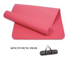 Mã Khuyến Mại Thảm Tập Yoga Zeno Tpe Cao Cấp 1 Lớp 8Mm Kem Tui Chống Nước Hồng Zeno Mới Nhất