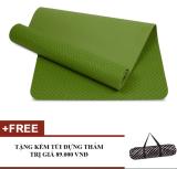 Thảm Tập Yoga Zeno Tpe Cao Cấp 1 Lớp 8Mm Kem Tui Chống Nước Xanh La Nguyên