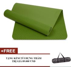 Bán Thảm Tập Yoga Zeno Tpe Cao Cấp 1 Lớp 8Mm Kem Tui Chống Nước Xanh La Zeno