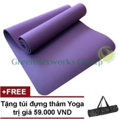 Mua Thảm Yoga Chống Trơn Greennetworks Tpe 8Mm 1 Lớp Kem Tui Tim Mới Nhất