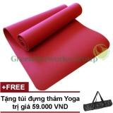 Giá Bán Thảm Yoga Chống Trượt Greennetworks Tpe 8Mm 1 Lớp Kem Tui Đỏ Trực Tuyến