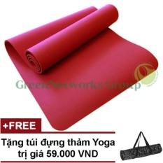 Thảm Yoga Chống Trượt Greennetworks Tpe 8Mm 1 Lớp Kem Tui Đỏ None Chiết Khấu