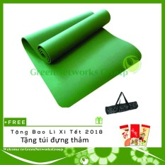 Bán Thảm yoga đài loan GreenNetworks TPE 8mm 1 lớp kèm túi GreenNetworks + Tặng bao lì xì