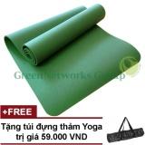 Mua Thảm Yoga Đai Loan Greennetworks Tpe 8Mm 1 Lớp Kem Tui Xanh La Trực Tuyến