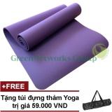 Bán Thảm Yoga Gia Rẻ Tphcm Greennetworks Tpe 8Mm 1 Lớp Kem Tui Tim None Nguyên