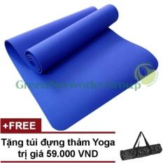 Chiết Khấu Thảm Yoga Mua Ở Greennetworks Tpe 8Mm 1 Lớp Kem Tui Xanh Co Ban Hồ Chí Minh