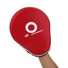 Hình ảnh Làm dày Da PU Đấm Đá Lòng Bàn Tay Miếng Lót Mục Tiêu Bao Đấm Boxing Miếng Lót (Đỏ Miếng Lót)-quốc tế