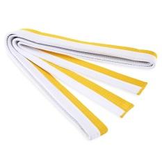 Hình ảnh Dày Karate Võ thuật Taekwondo Thắt Lưng (Trắng Và Vàng)-quốc tế
