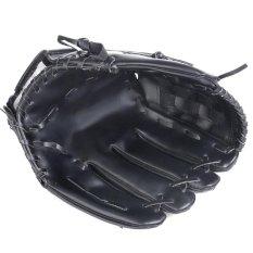 Thickened PU leather Youths Baseball Glove for Softball Tee Ball Teeball 11.5 inch Black - intl