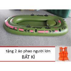 Hình ảnh Thuyền hơi Kayak 2 người tặng kèm 2 áo phao người lớn