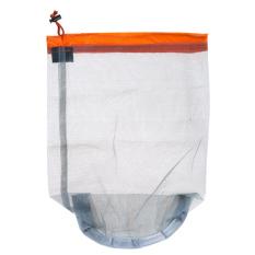 Travel Ultralight Mesh Drawstring Storage Bag Orange (Intl)