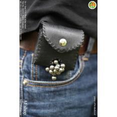 Hình ảnh túi da đựng bi sắt ná cao su đeo lưng tự nhả