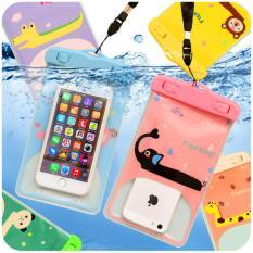 Hình ảnh Túi đựng điện thoại chống nước hình thú ( màu +hình ngẫu nhiên )
