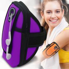 Hình ảnh Túi đựng điện thoại đeo tay tập thể thao - loại cao cấp có lỗ luồn tai nghe