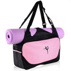 Túi đựng thảm Yoga đa năng tiện lợi - Chống nước (Hồng nhạt)