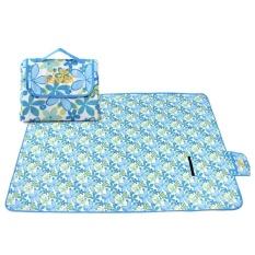 Hình ảnh UINN Waterproof Oxford Cloth Lawn Beach Family Park Picnic Mat 2x1.5M Foldable Mat blue - intl
