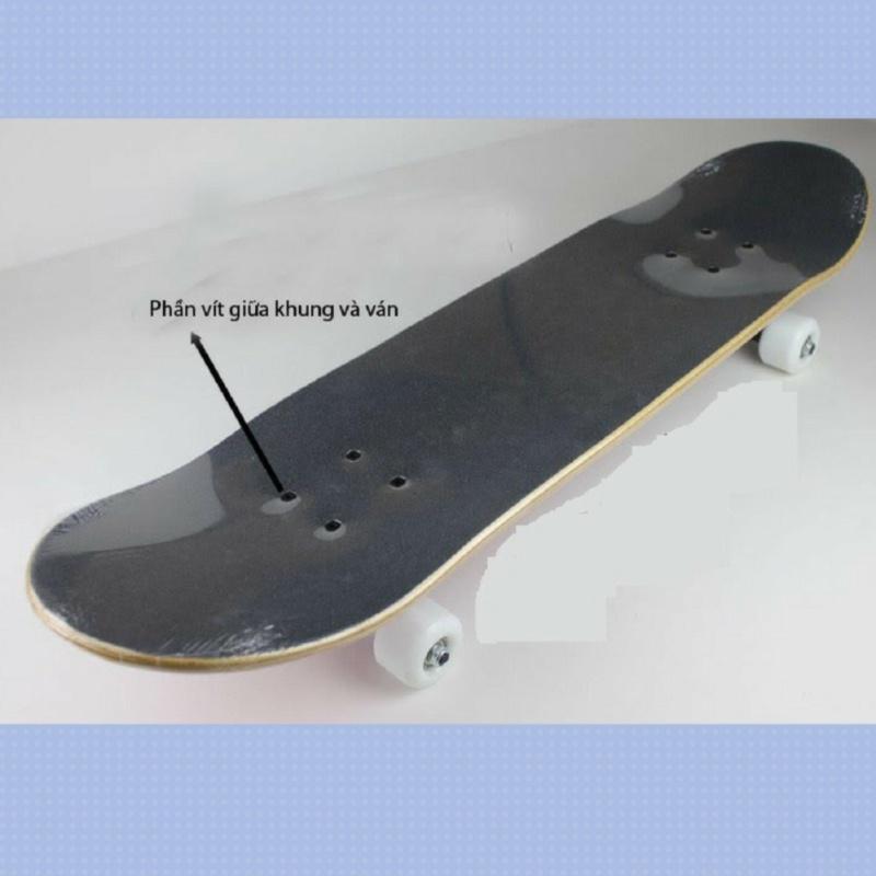 Giá bán Ván trượt Skateboard cao cấp cỡ MẶT NHÁM ĐEN BÁNH CAO SU DẺO trong đẳng cấp ĐỒ TẬP TỐT
