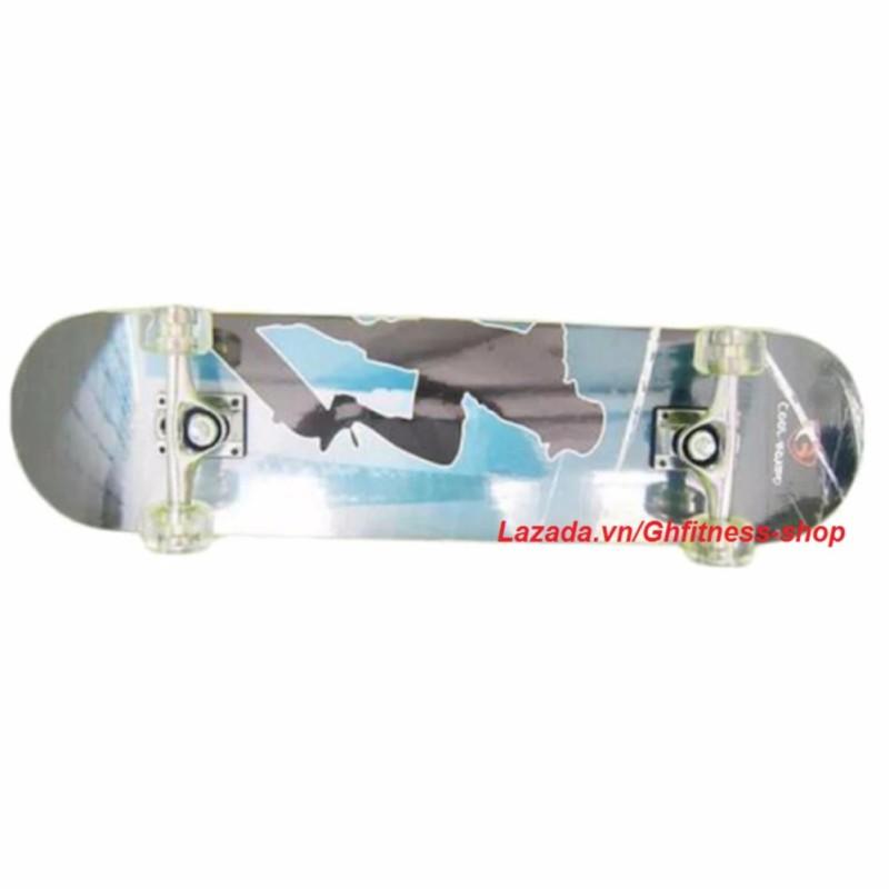 Ván trượt thể thao Skateboard cỡ lớn bánh cao su trong + KAMA