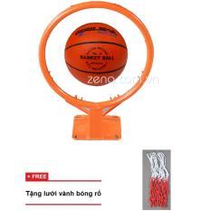 Hình ảnh vành bóng rổ 35cm + quả bóng rổ gerustar số 3