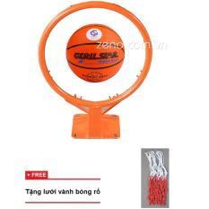 Hình ảnh vành bóng rổ 40cm + quả bóng rổ gerustar số6