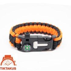 Hình ảnh Vòng tay sinh tồn Paracord ( Cam) 05 - Tiktakus