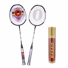 Hình ảnh Bộ vợt cầu lông haotian 7725 tặng ngay 10 quả cầu lông Ba Sao tập luyện