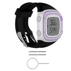 Hình ảnh Đồng hồ dây Silicon Ban Nhạc + Dụng Cụ Dành Cho Garmin Tiền Thân 10/15 GPS Chạy # đen nữ-quốc tế