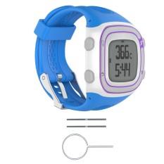 Hình ảnh Watch Silicone Wrist Band Strap +Tools For Garmin Forerunner 10 / 15 GPS Running #blue women - intl