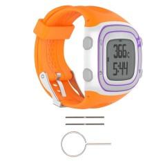 Hình ảnh Watch Silicone Wrist Band Strap +Tools For Garmin Forerunner 10 / 15 GPS Running #orange men - intl