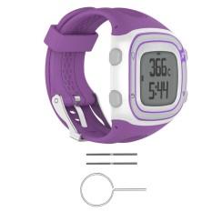 Hình ảnh Đồng hồ dây Silicon Ban Nhạc + Dụng Cụ Dành Cho Garmin Tiền Thân 10/15 GPS Chạy # tím nữ-quốc tế