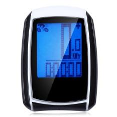 Mua Chống nước Siêu Mỏng Không Dây MÀN HÌNH LCD có Đèn Nền Xe Đạp Đồng Hồ Đo Tốc độ (Trắng Và Đen)-quốc tế