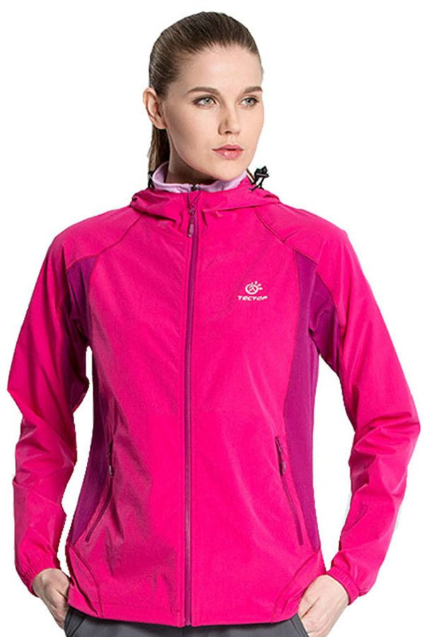 Women Summer Sunscreen Coat Lady's Outdoor Hiking Sports Protection Solar Hooded Jacket UV Protection (Roseo) - intl