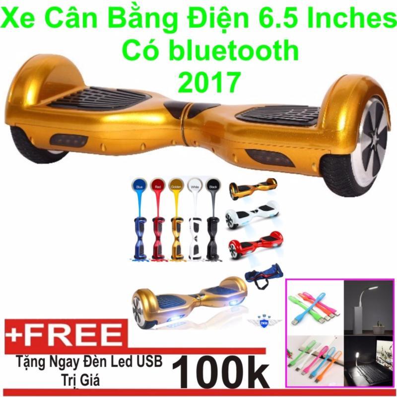 Phân phối Xe cân bằng điện 6.5 inches Có bluetooth 2017 (Gold) + Tặng Đèn Led USB