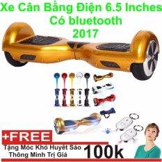 Xe cân bằng điện 6.5 inches Có bluetooth 2017(gold) + Tặng Móc Khoá Huyết Sáo Thông Minh