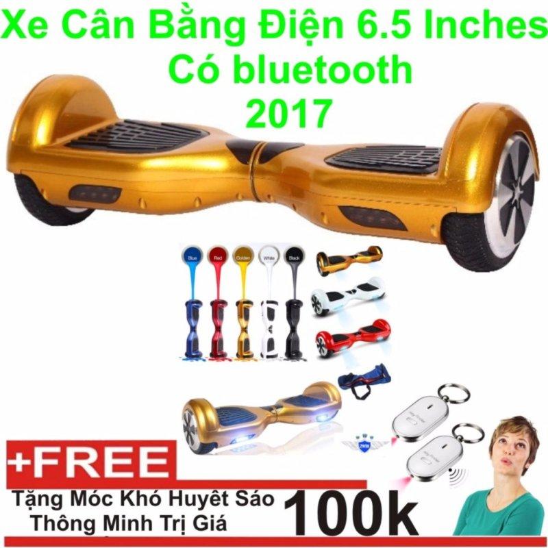 Mua Xe cân bằng điện 6.5 inches Có bluetooth 2017(gold) + Tặng Móc Khoá Huyết Sáo Thông Minh