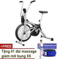 Hình ảnh Xe đạp Air Bike (Xám) + Tặng đai massage giảm mỡ bụng X5